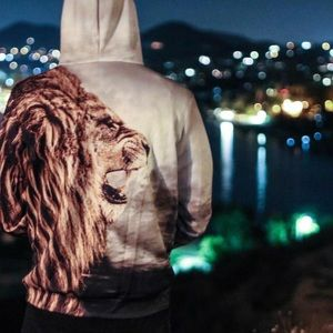 Other - Lion Hoodie Hand Stitched